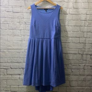 Apt. 9 Periwinkle Lace Eyelet Hi-Low Dress